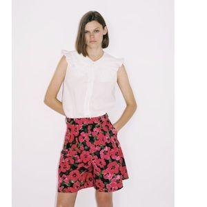 Zara NEW floral printed shorts